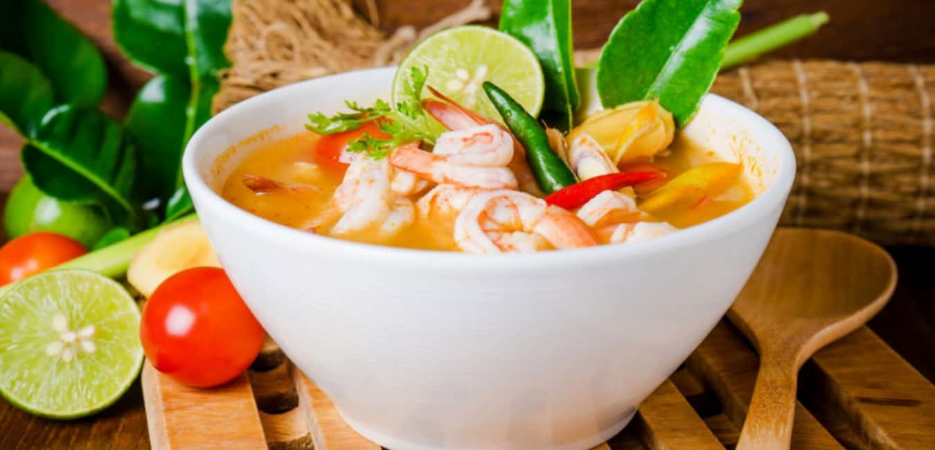 Best Thai Food Portland - Tom Yum Goong (Spicy Shrimp Soup)