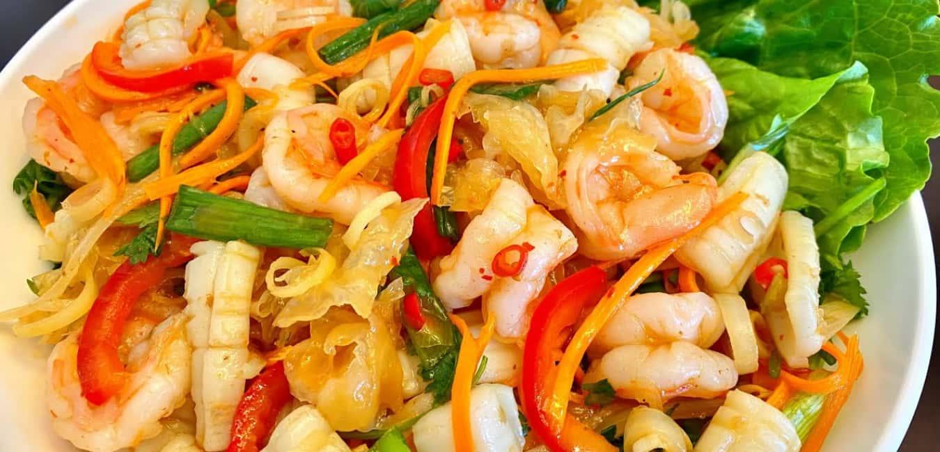 Best Thai Food Portland - Yam Talay (Spicy Seafood Salad)