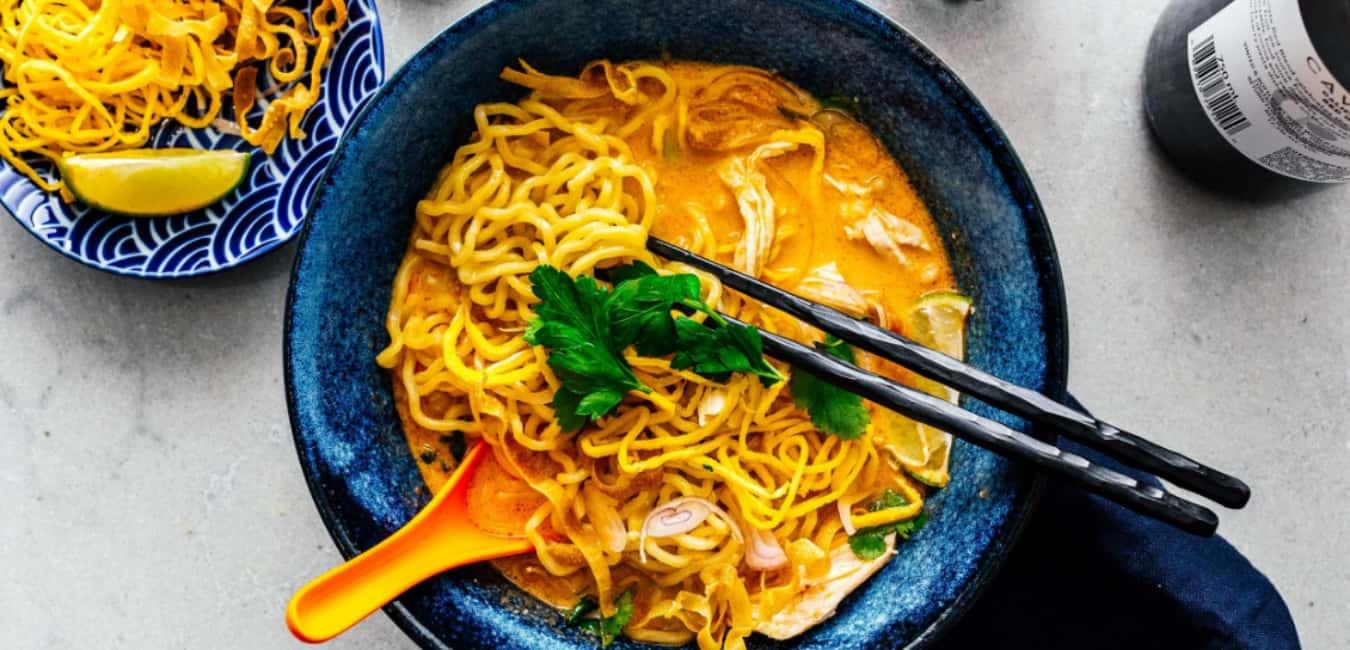 Khao Soi (creamy coconut curry noodle soup)