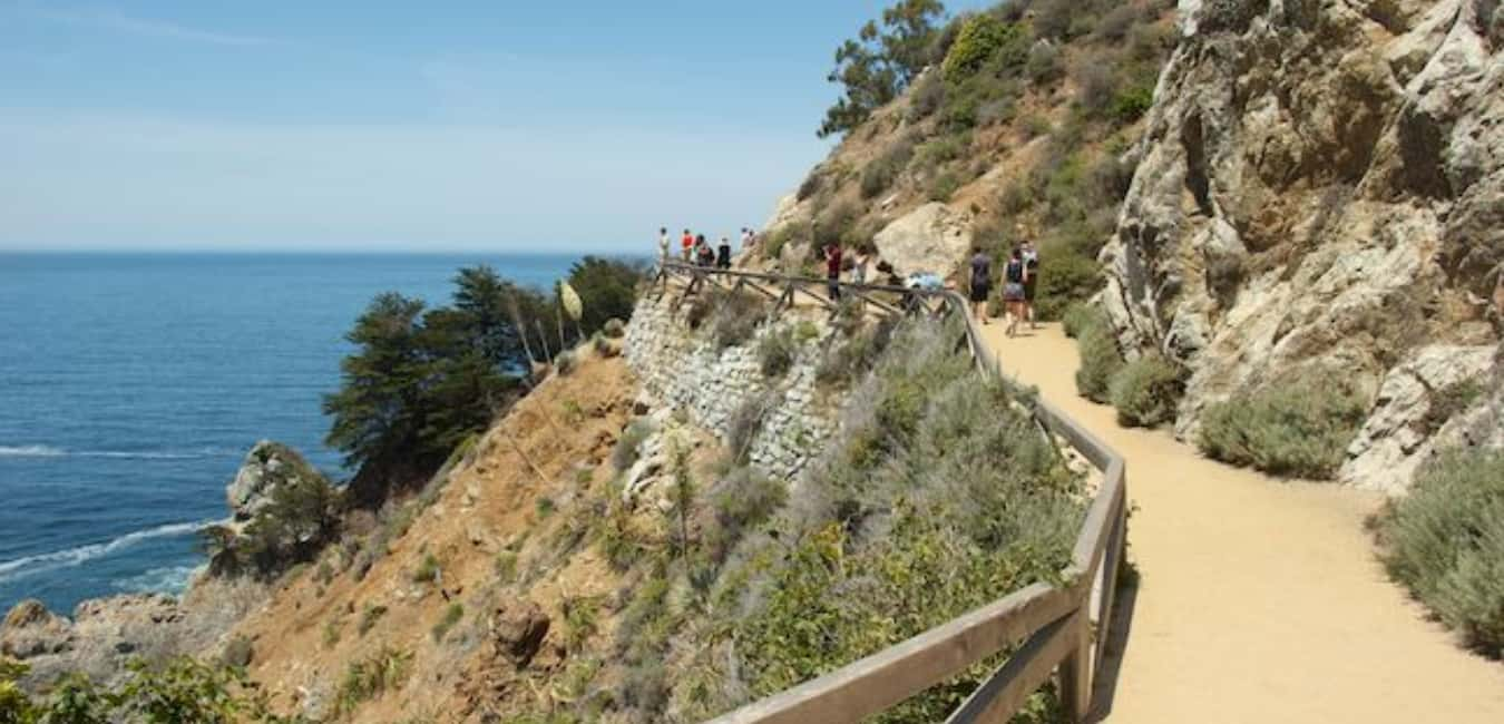 Best Campgrounds in Big Sur - McWay Waterfall Trail