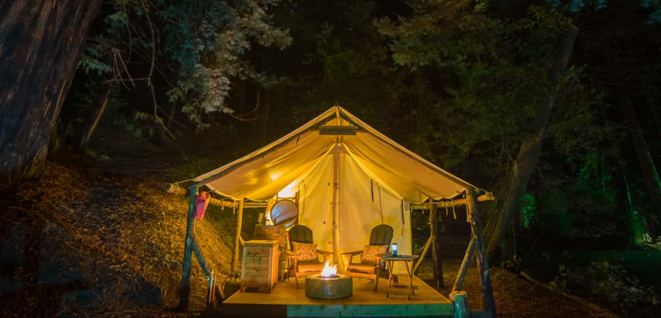 Best Glamping in Big Sur - Luxury Tent