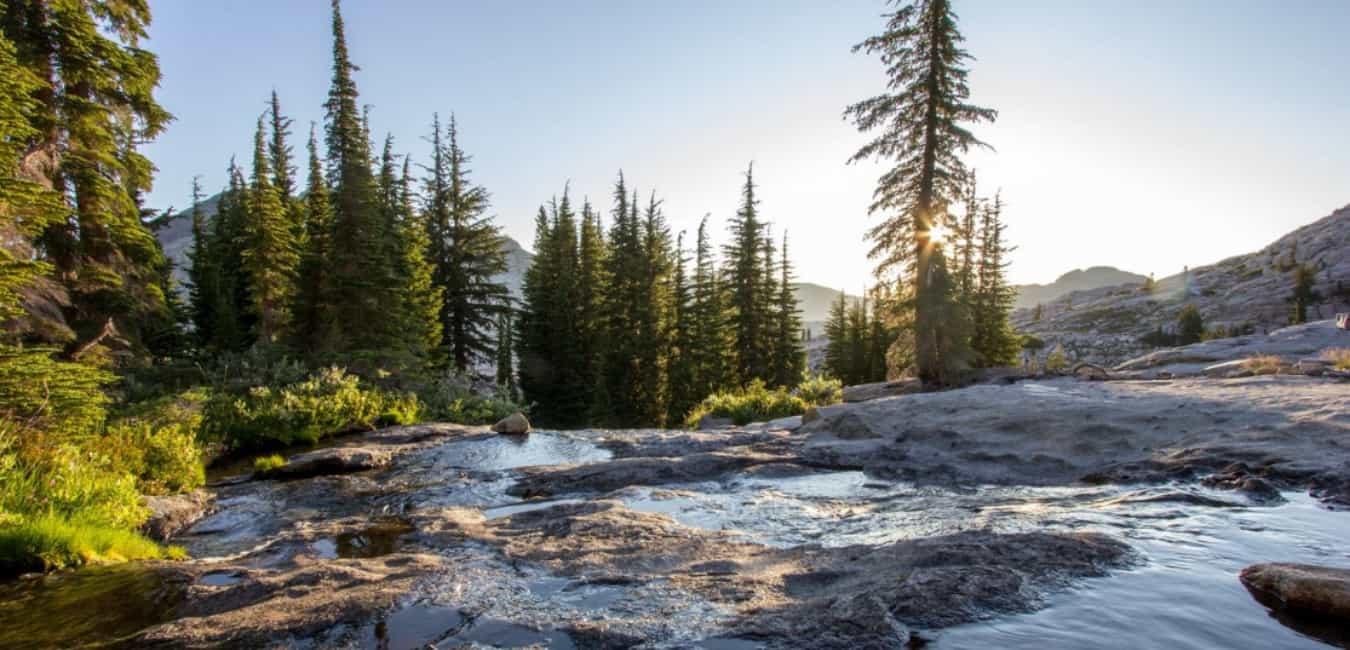Desolation Wilderness Waterfall Camp