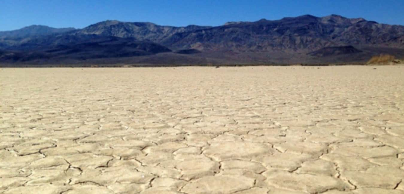 Driving through the Death Valley in Summer
