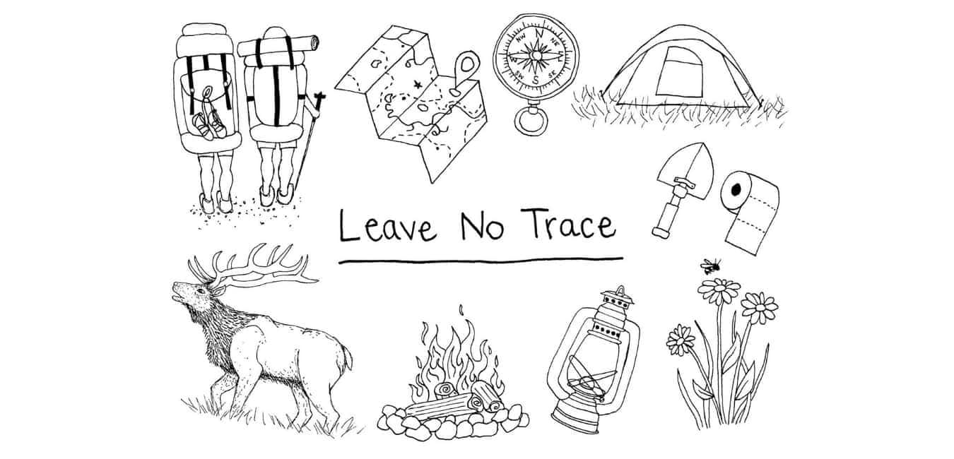 When dispersed camping, leave no trace