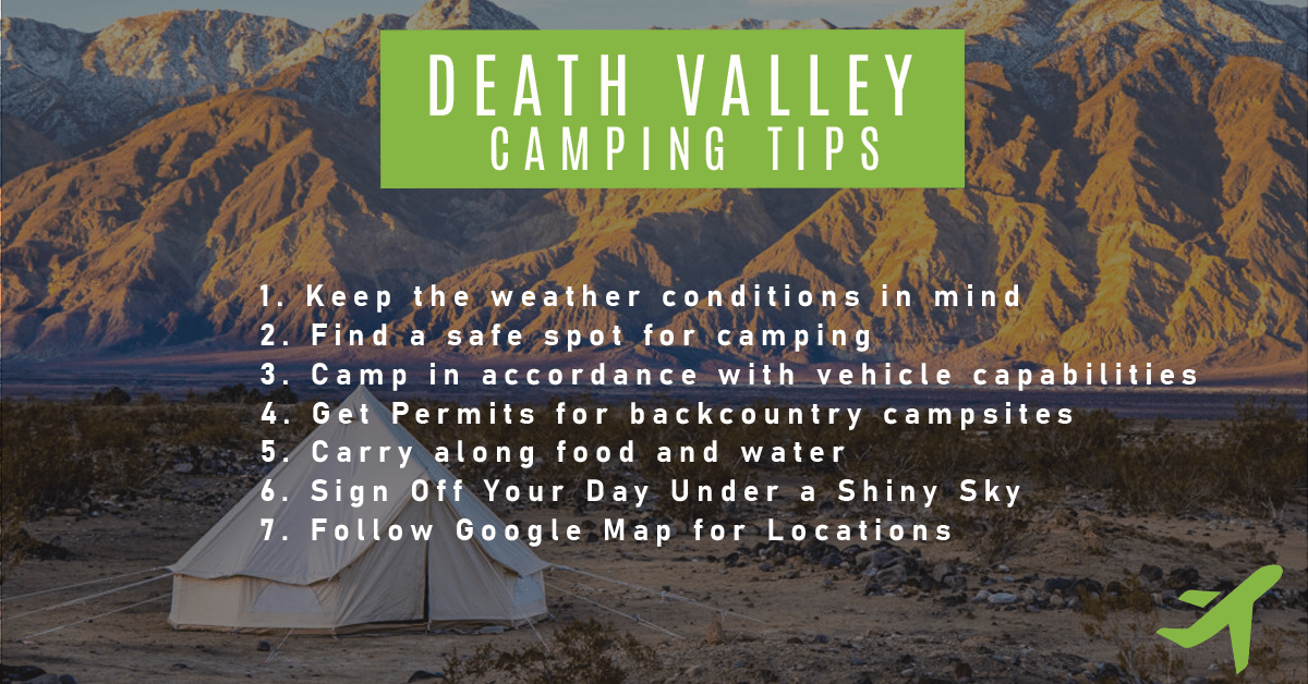 Death Valley Camping Tips