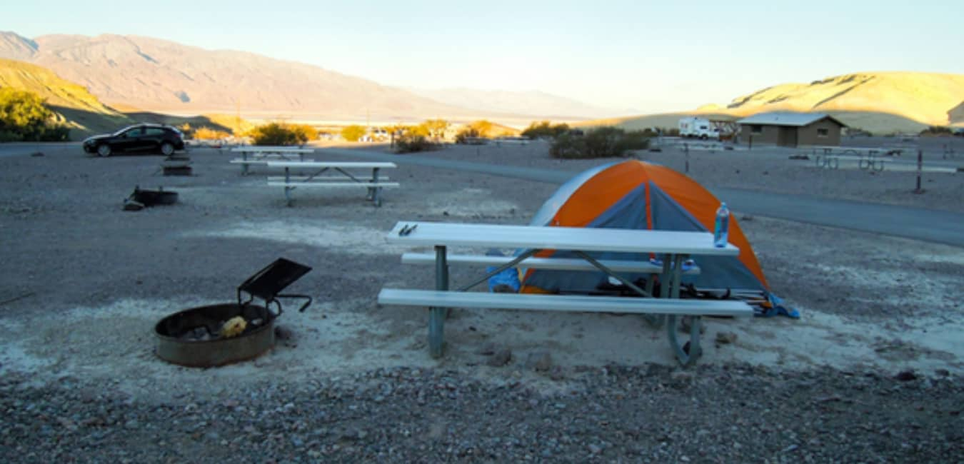 Look for a safe spot for camping