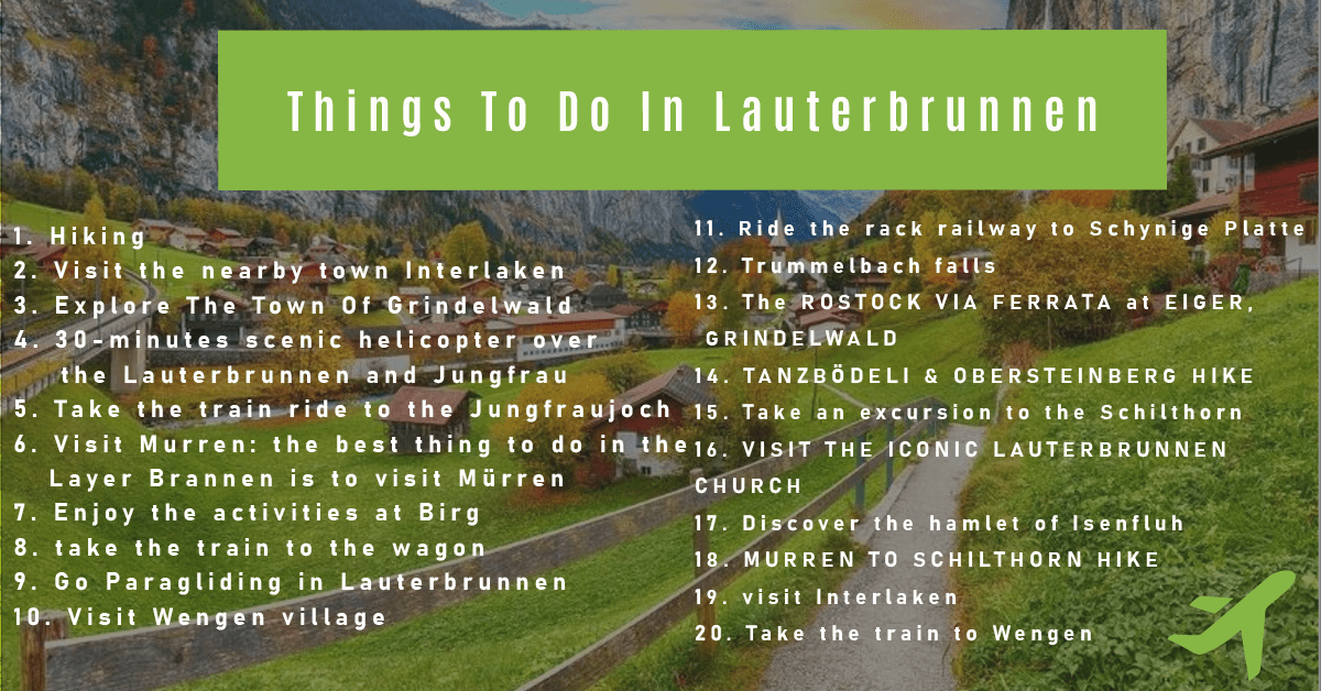 Things To Do In Lauterbrunnen - 20 Best Things
