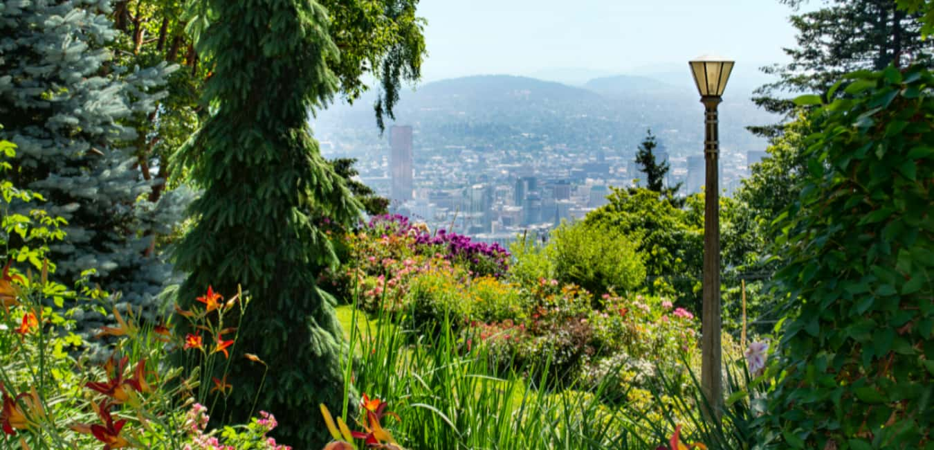 View from Pittock mansion